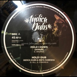 "Indica Dubs-10""-Hold I Down / Danman + Faithful Dub / Indica Dubs meets Tiberias Towa"