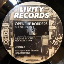 "Livity Records-7""-Open The borders / Speng Bond + Dub The Borders / Cusci, High Budub Sound"