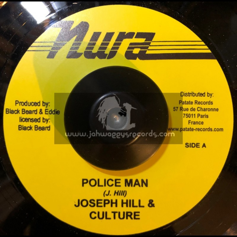 "Nura-7""-Police Man / Joseph Hill & Culture + Police Man Dub / Sly & Robbie With King Kraft Possie"