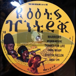 "Roots Hi Tek-12""-Warriors/Reuben Mystic+Thanks For Life/Errol Bellot+System Falling/Aqua Levi"