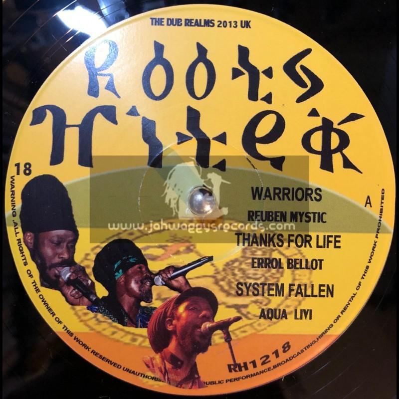"""Roots Hi Tek-12""""-Warriors/Reuben Mystic+Thanks For Life/Errol Bellot+System Falling/Aqua Levi"""