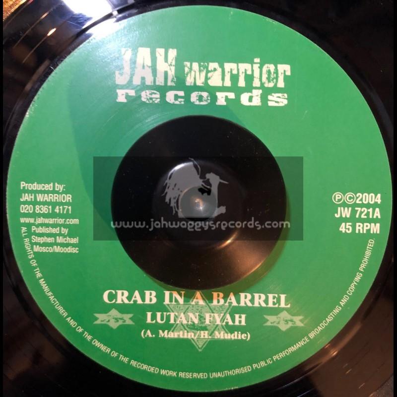 """Jah Warrior Records-7""""-Crab In A Barrel / Lutan Fyah"""