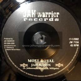 """JAH WARRIOR RECORDS-7""""-MOST ROYAL / JAH MASON"""