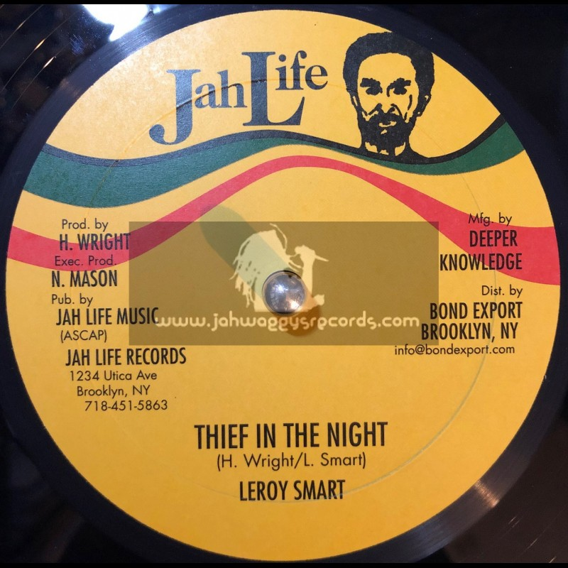 """Jah Life Records-10""""-Thief In The Night + Warrior / Leroy Smart"""