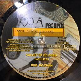 "IWA Records-10""-Valley Of DC Zhan / I Warriyah"