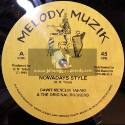 "Melody Muzik-TRS Records-12""-Nowadays Style / Dawit Menelik Tafari & The Original Rockers + Can't Stop Me Now / Hughie Izachaar"
