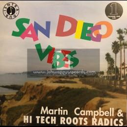 Channel One Uk-LP-San Diego Vibes / Martin Campbell & Hi Tech Roots Radics
