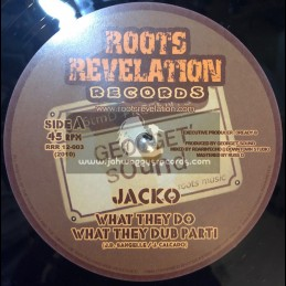 "ROOTS REVELATION RECORDS-12""-WHAT THEY DO / JACKO + SKANK IN THE FOREST / ROOTIKAL WARRIOR SOUND"