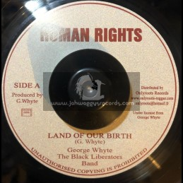 """Human Rights-7""""-Land Of Or Birth / George Whyte"""