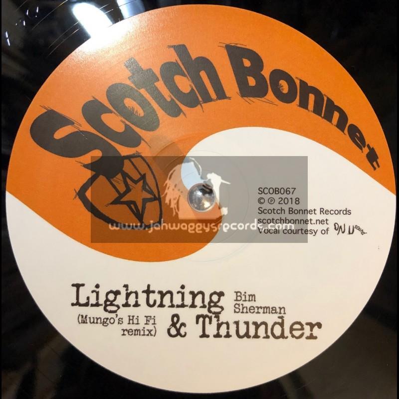 "Scotch Bonnet-10""-Lightning And Thunder / Mungos Hi-Fi Feat. Bim Sherman"