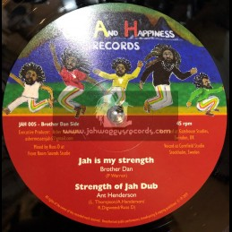 """Joy And Happiness Records-12""""-Jah Is My Strength / Brother Culture + Jah Praises / Sattalite"""
