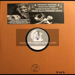 "Prophecy Records-10""-Dubplate-Dont Cry / SomehowArt Ft. Prince Alla + Horns Cry / Hornsman Coyote"