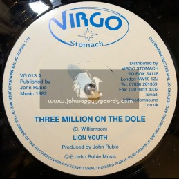 "VIRGO STOMACH-12""-THREE MILLION ON THE DOLE / LION YOUTH"