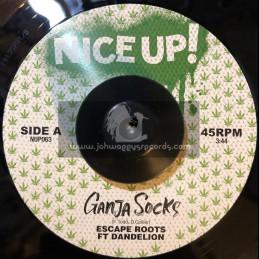 """Nice Up-7""""-Ganja Socks / Escape Roots Ft.Dandelion"""