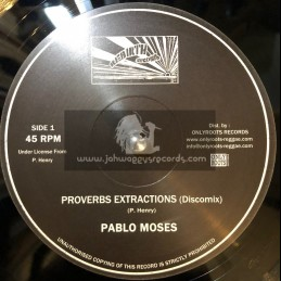 """Rebirth Records-10""""-Proverbs Extractions / Pablo Moses + Music Is My Desire / Pablo Moses"""