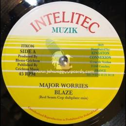 "Intelitec Muzik-7""-Blaze / Major Worries - Red Seam Cop Dubplate Mix"