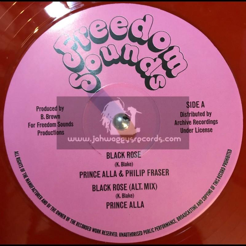 """Freedom Sounds-12""""-Black Rose / Prince Alla & Philip Fraser"""