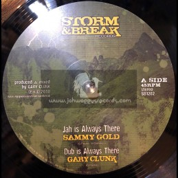 """STORM AND BREAK RECORDS-12""""-JAH IS ALWAYS THERE / SAMMY GOLD + HOMELAND / HATMAN"""