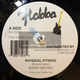 """Flabba Music-12""""-Physical Fitness / Barry Brown + Yes Yes Yes / Flabba Holt"""