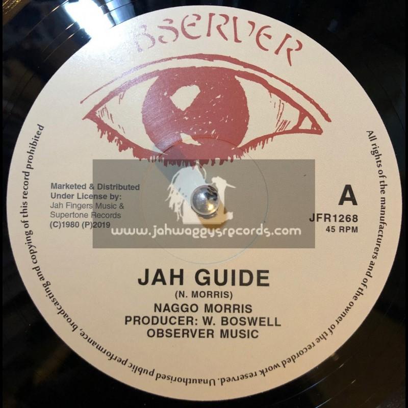 "Observer-Jah Fingers-12""-Jah Guide / Naggo Morris + Give Her My Love / The Observer"