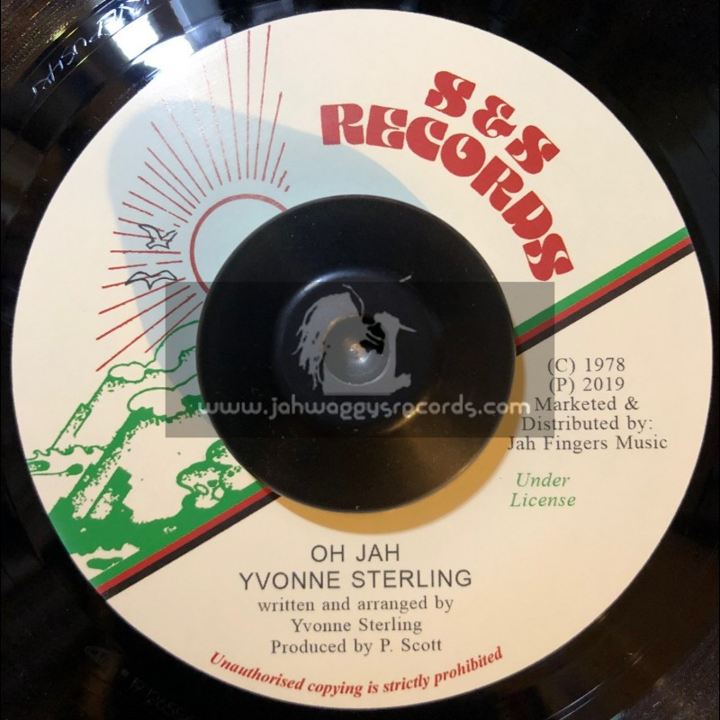 """S & S Records-Jah Fingers-7""""-Oh Jah / Yvonne Sterling"""