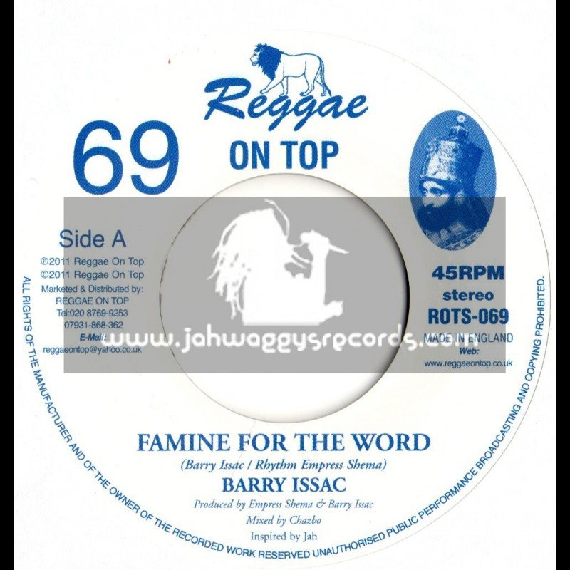 """Reggae on top-7""""-Famine for the world / Barry Issac (Empress Shema)"""