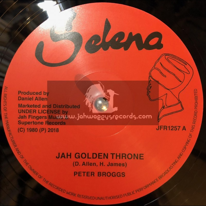 """Selena-Jah Fingers-12""""-Jah Golden Throne / Peter Broggs + 144,000 Saints / Dexter McKintyre"""