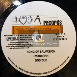 """IWA Records-10""""-Song Of Salvation / I Warriyah + Ghetto Atmosphere / Errol Bellot"""