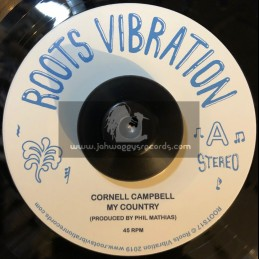 """Roots Vibration-7""""-My Country / Cornel Campbell"""
