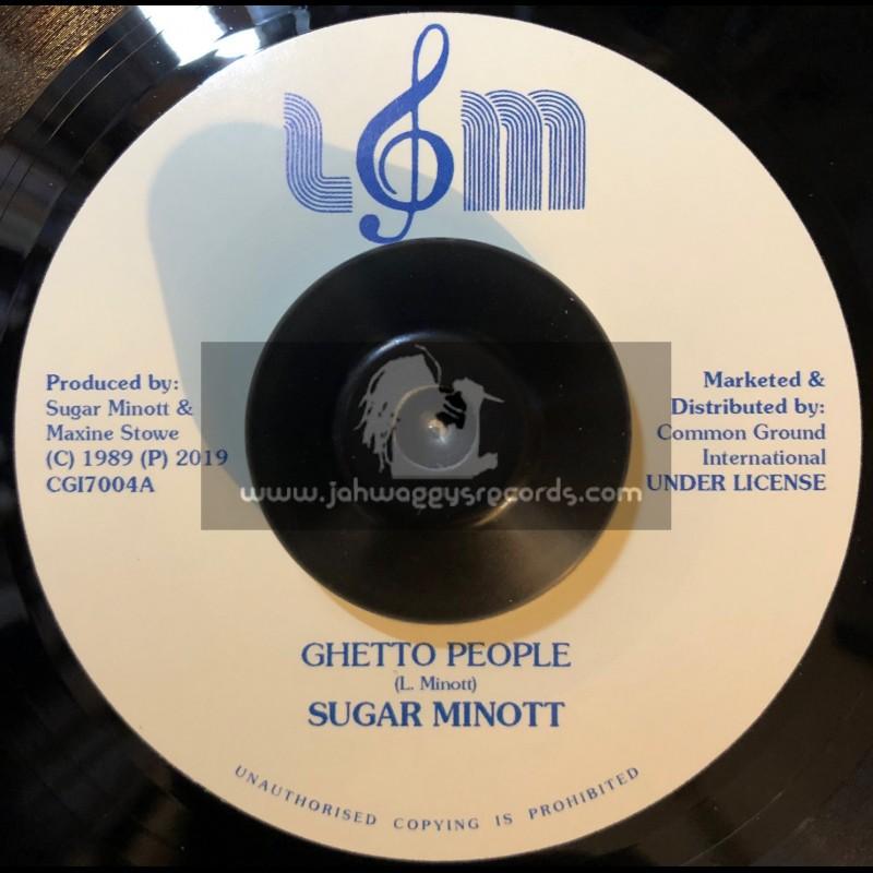 """L&M Record Co-7""""-Ghetto People / Sugar Minott"""