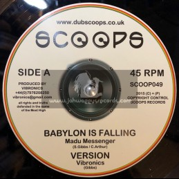 "Scoops-10""-Babylon Is Falling / Madu Messenger + Jah A Go Mash Them Down / Echo Ranks"