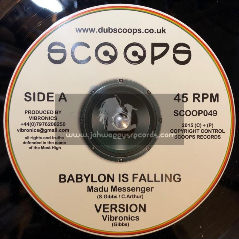 "Scoops-10""-Babylon Is Falling / Madu Messenger + Jah A Go Mash Them Down / Echo Ranks"