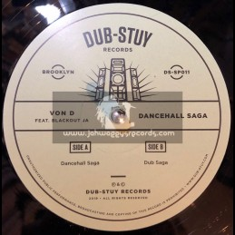 "Dub-Stuy Records-12""-Dancehall Saga / Von D ft. Blackout Ja"