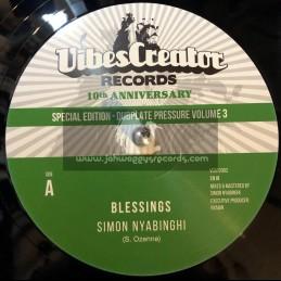 "Vibes Creator Records-12""-Blessings / Simon Nyabinghi + Clean Up / Simon Nyabinghi"