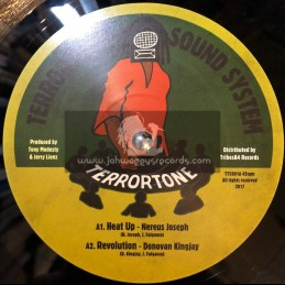 "Terrortone Sound System-10""-Heat Up / Nerious Joseph + Revolution / Donovan King Jay + Farmer / Lorna Asher&White Flag / Kris I"