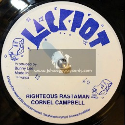 "Jackpot-7""-Righteous Rastaman / Cornel Campbell"