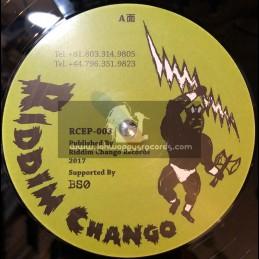 "Riddim Chango-12""-Easton Horns / Bim One Production Feat. Digistep + Turn On The Heat / Bim One Production Feat, Rudy Lee"