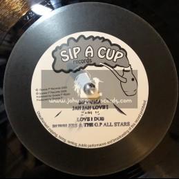 """Sip A Cup Records-10""""-Jah Jah Love I + Menelik / Earl 16"""