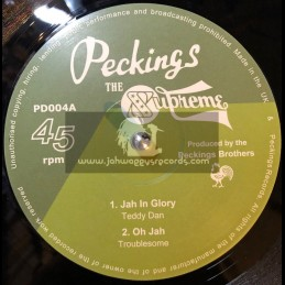 "Peckings-12""-Jah In Glory/Teddy Dan+Oh Jah/Trouble Some+Hardest Thing To Say/The Emeterians+African Dub/Peckings AllStars"