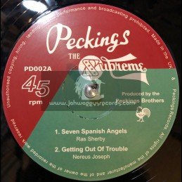 "Peckings Records-12""-Seven Spanish Angels/Ras Sherby + Getting Out Of Trouble / Nereus Joseph + Jah Rastafari / Iyah Man Pablo"