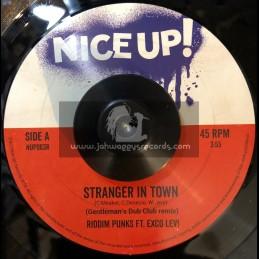 "Nice Up Records-7""-Stranger In Town / Riddim Punks Ft. Exco Levi - Gentlemans Dub Club Remix"