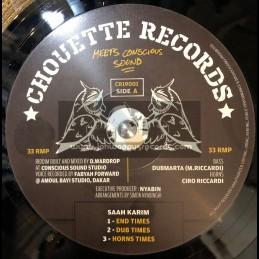 "Chouette Records-12""- End Times / Saah Karim + Oh Jah / Sandeeno"