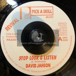 """REVIVAL PICK A SKILL 7""""-STOP LOOK & LISTEN/ANTHONY JAHSON"""