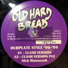 """Old Hard Bread-12""""-Dubplate Style '90-'99 / Manasseh"""
