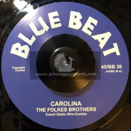 """Blue Beat-7""""-Carolina / The Folkes Brothers + I Met A Man / The Folkes Brothers"""