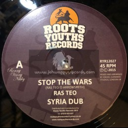"""Roots Youths Records-12""""-Stop The Wars / Ras Teo"""