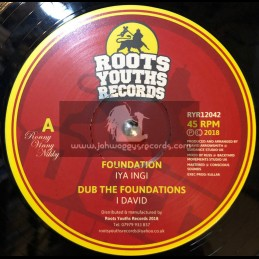 "Roots Youths Records-12""-Foundation / Iya Ingy Meets I David"