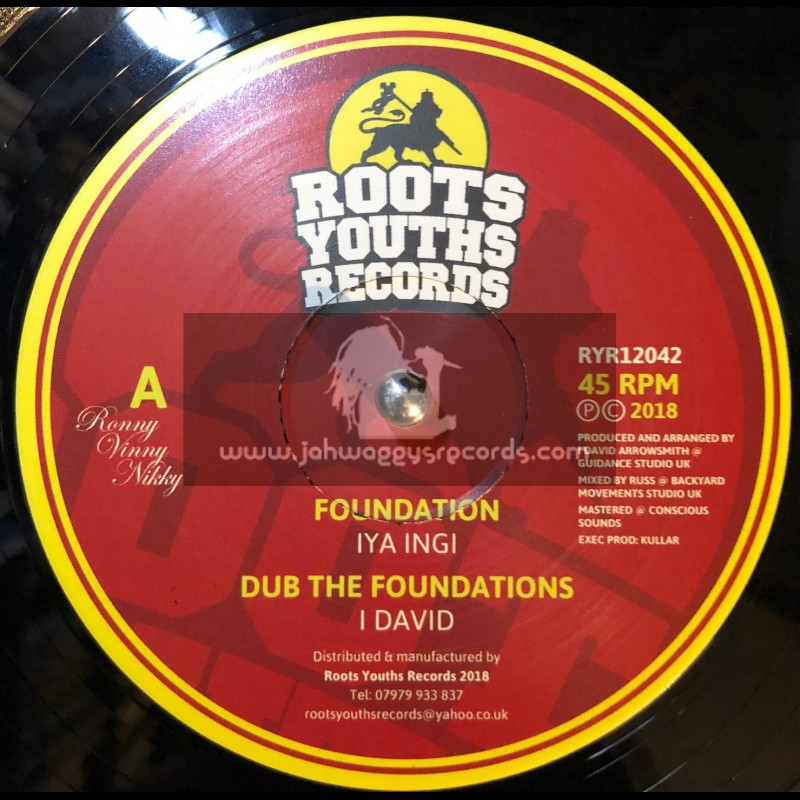 "Roots Youths Records-12""-Foundation / Iya Ingy Meets I David"