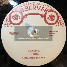 "Observer 12""-Dealing/Gregory Isaacs + Memories/Ken Boothe"