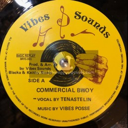 "Vibes Sounds-12""-Commercial Bwoy + Burial Tonight / Tena Stelin"